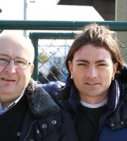 Il presidente Franco Di Felice e il responsabile della scuola calcio Orlando Di Paolo