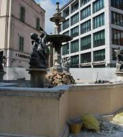 Lavori alla fontana