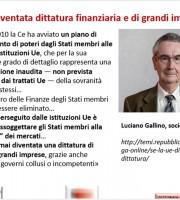 Luciano Gallino, sociologo, sull'Unione Europea