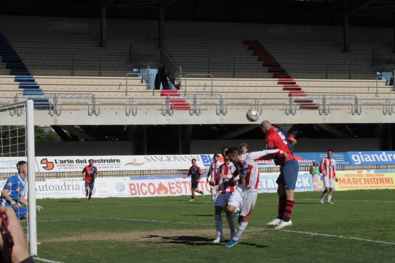 Samb-Vis Pesaro gol di Tozzi Borsoi foto bianchini