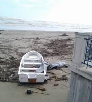 Spiaggia invasa dai detriti, Grottammare 6 marzo