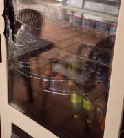 il distributore del Circolo Tennis danneggiato nella notte