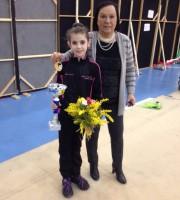 Melanie Muscella vola alle fasi nazionali di ginnastica ritmica