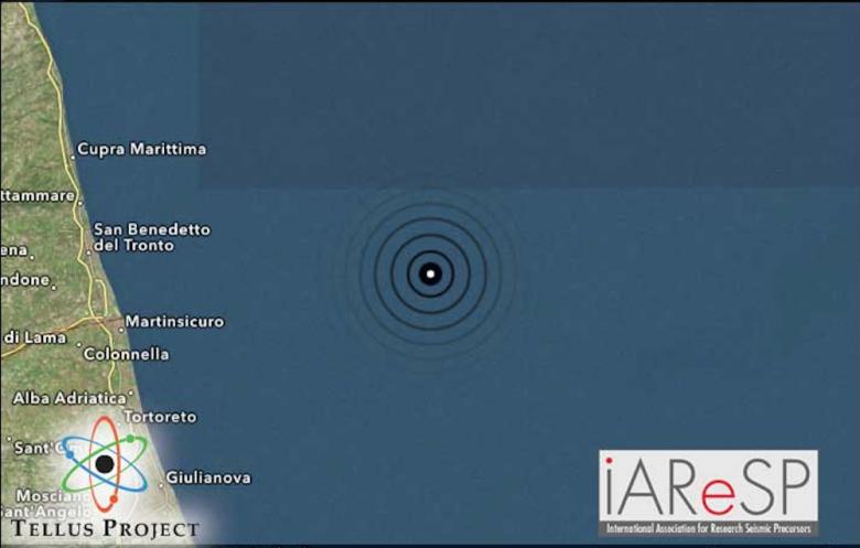 scossa di terremoto al largo di Martinsicuro