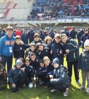 I giovani dell'Acquaviva calcio al Riviera delle palme
