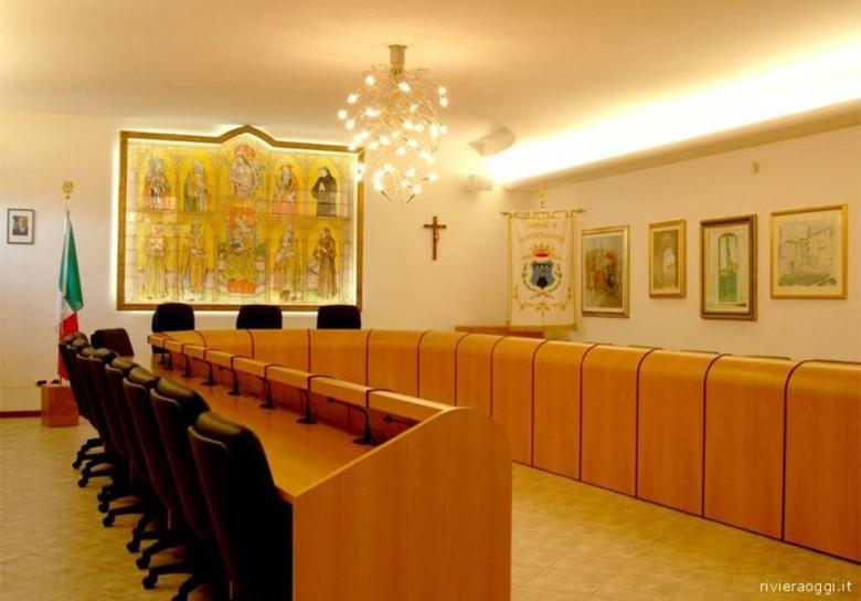 La sala consiliare di Monteprandone