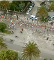 Maratonina dei Fiori 2015 vista dall'alto
