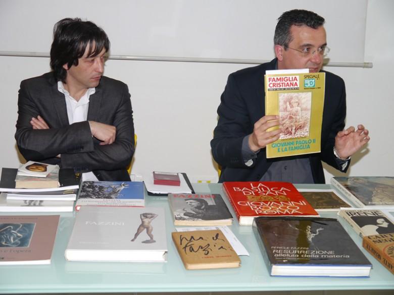 Il Sindaco Enrico Piegallini e Gianluca Traini