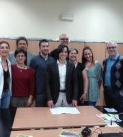Il Sindaco Piergallini, l'Assessore all'Inclusività sociale Clarita Baldoni, l'Assessore alle Politiche contro la crisi Lorenzo Rossi, i responsabili dei Centri estivi