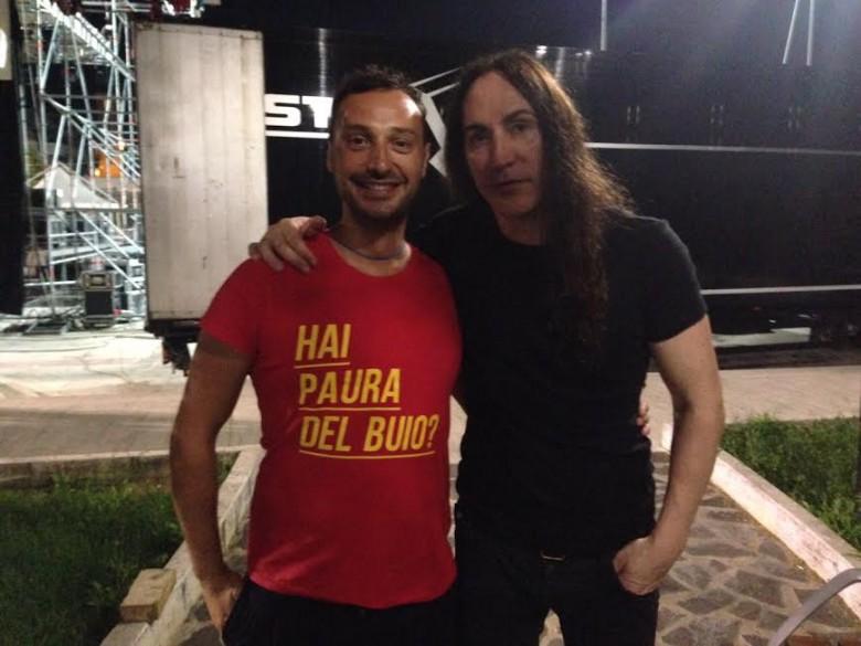 Federico Aragrande con il cantante degli Afterhours Manuel Agnelli
