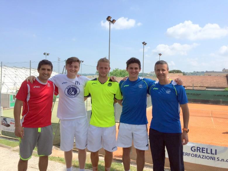 La squadra di Serie C del CT Maggioni con il tecnico Filippo Rattenni