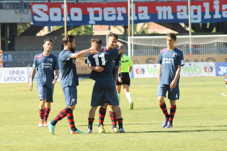Samb-Castelfidardo 3-0, festa per il terzo gol