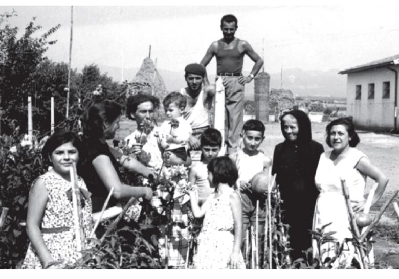 Foto d'epoca dei marchigiani di Bolgheri