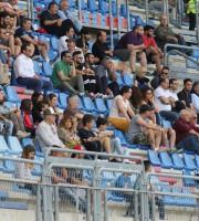 Tfosi della Samb ieri in tribuna