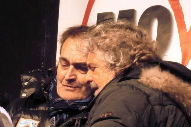 Peppe Giorgini con Beppe Grillo