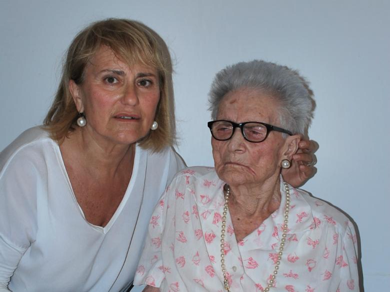 Angela Viviani con la figlia