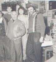 Carlo Odorizzi, il primo da sinistra, in una foto degli anni 80