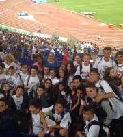 """Gli alunni dell'Istituto comprensivo """"S.Pertini"""" allo stadio Olimpico"""