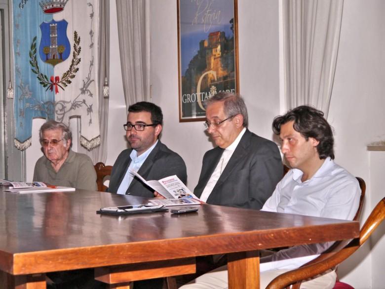 Simone Incicco, responsabile organizzativo e giornalista, Vescovo mons. Carlo Bresciani, il Sindaco Enrico Piergallini