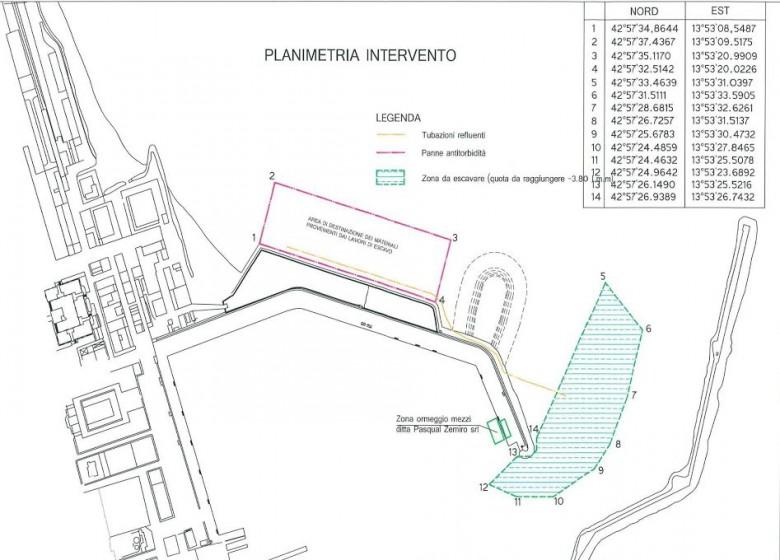 Planimetria del porto