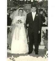 Anna e Franco Luciani il giorno del loro matrimonio
