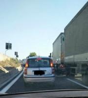 Traffico sull'A14 (foto di repertorio)