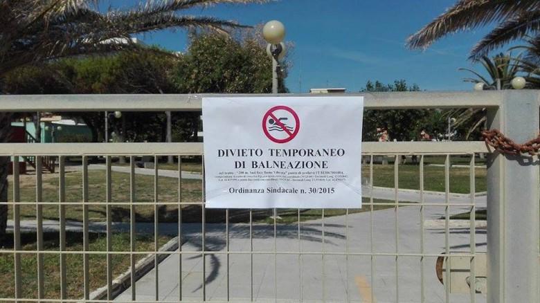 divieto temporaneo di balneazione