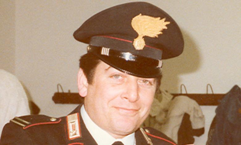 Il tenente colonnello dei carabinieri Guido Gargarella negli anni di servizio a Martinsicuro