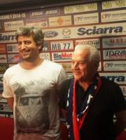 Il presidente Franco Fedeli con il figlio Andrea