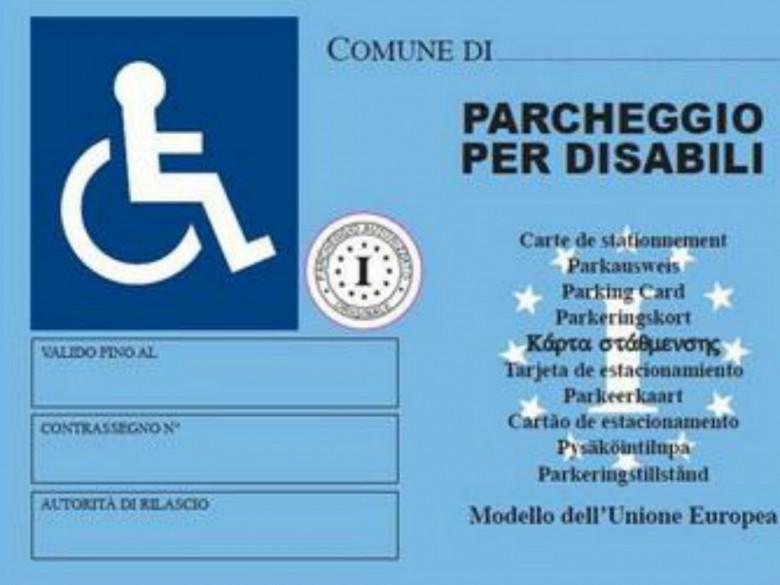 Contrassegno Parcheggio (foto tratta dalla pagina Twitter di San Benedetto del Tronto)