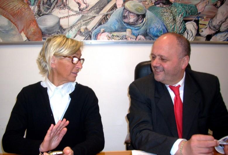 Margherita Sorge e il sindaco Gaspari