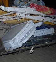 attrezzature da spiaggia sequestrate sull'arenile di Martinsicuro