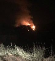 Incendio tra Grottammare e Ripatransone, 14 agosto (foto di Mauro Meloni)