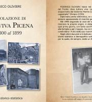 La copertina del libro La Popolazione di Acquaviva Picena dal 1800 al 1899