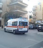 L'ambulanza che ha prestato i soccorsi alla ragazza, 28 agosto