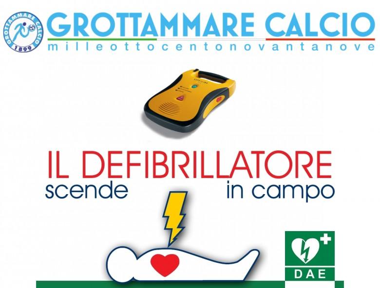Locandina: il defibrillatore scende in campo