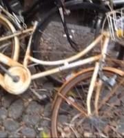 Biciclette abbandonate in Viale De Gasperi