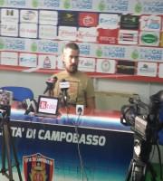 Andrea Fedeli in sala stampa a fine gara