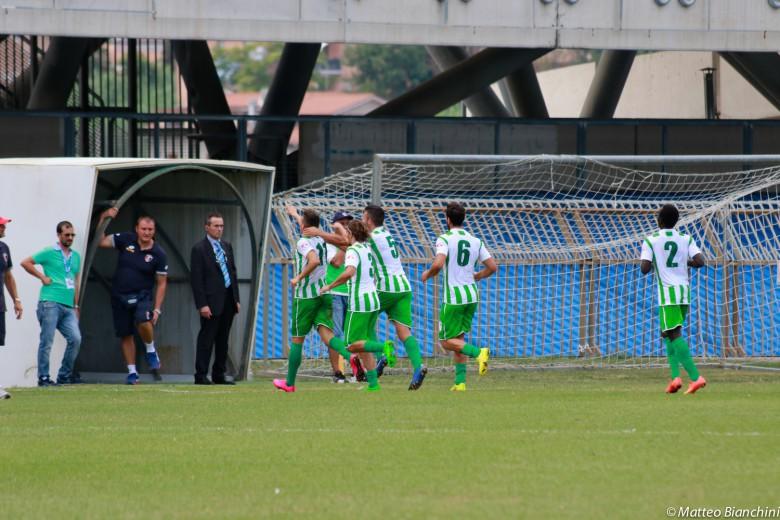 Samb-Avezzano 2-1, il gol ospite di Di Massimo