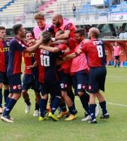Samb-Avezzano 2-1, festa dopo il vantaggio