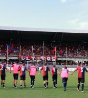 Samb-Castelfidardo 1-0, il saluto della Samb alla Nord