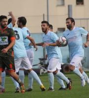L'esultanza dopo il gol della vittoria (Foto Lara Facchini)