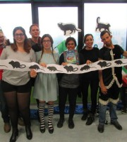 Fiabe animate, i volontari della biblioteca Lesca