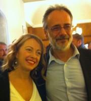 Giorgia Meloni, segretario nazionale di Fratelli d'Italia, con Giorgio De Vecchis