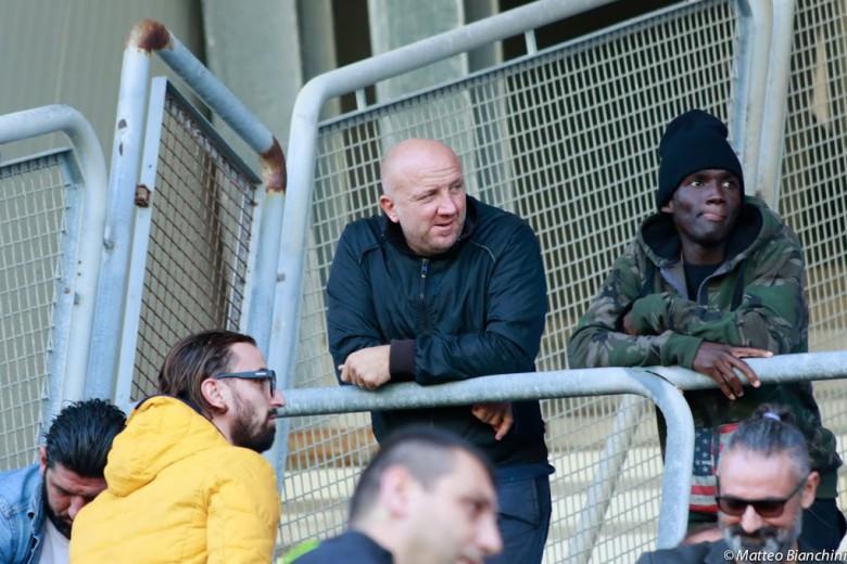 Ottavio Palladini allo stadio durante Samb-Matelica, costata l'esonero a Beoni e il suo ritorno sulla panchina rossoblu