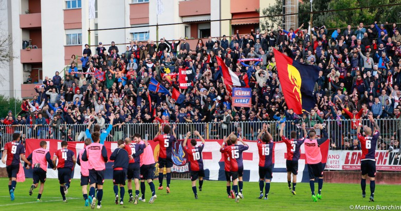 Fano-Samb 1-4. saluto dei rossoblu ai tifosi