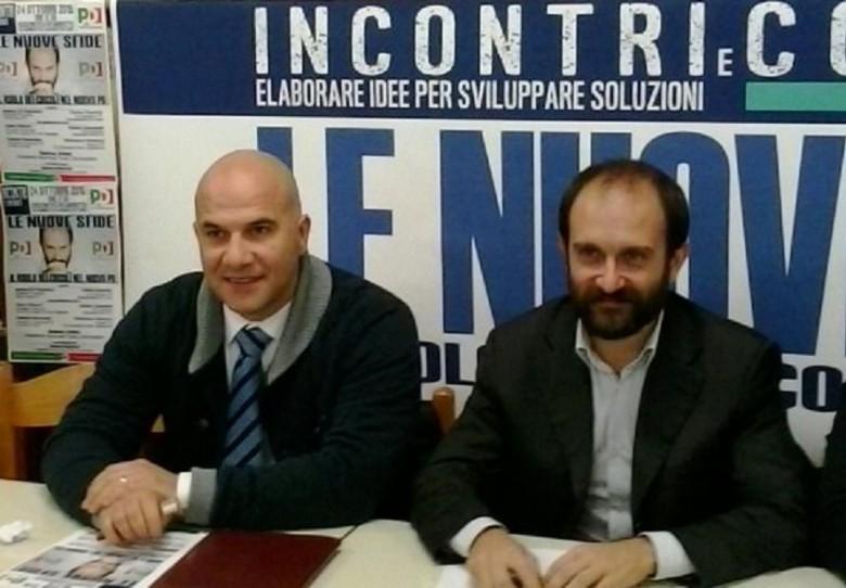 Matteo Orfini con Valerio Lucciarini