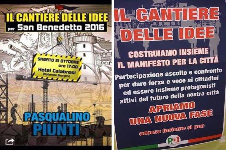 Di Francesco e Piunti, slogan a confronto