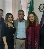 Al centro il sindaco Camaioni con alcuni componenti della commissione consiliare
