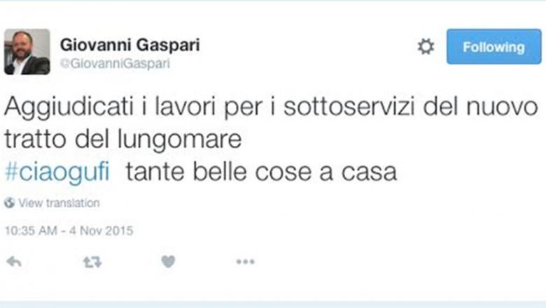 Giovanni Gaspari e i lavori sul lungomare